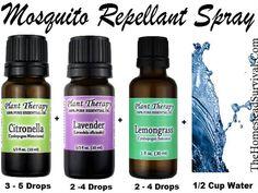Mosquito Spray – Essential Oil Recipe » The Homestead Survival