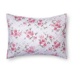 Purple Berry Rose Linen Blend Sham - Simply Shabby Chic™