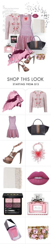 """Pink Spring!"" by flippintickledinc ❤ liked on Polyvore featuring Bobbi Brown Cosmetics, Giambattista Valli, Plakinger, CÉLINE, Philosophy di Alberta Ferretti, NOVICA, Lime Crime, Gucci, Christian Dior and GUiSHEM"