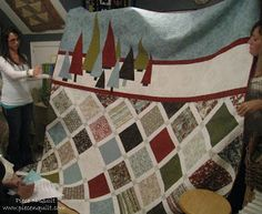 Piece N Quilt: Figgy Christmas Tutorial king size, layer cake