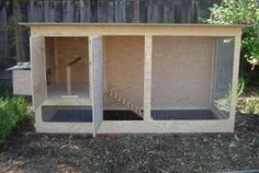 Simple coop made using full sheets of plywood!