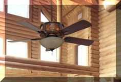 rustic ceiling fans | Timber Creek Ceiling Fan - Rustic Lighting and Fans