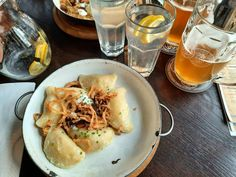 Pirohy a pivo 🍻  #beer #pivo #pierogi #pirohy #slovakia #bratislava #food #travelfood #feedme Bratislava, Cheesesteak, Mexican, Beer, Favorite Recipes, Ethnic Recipes, Food, Root Beer, Ale