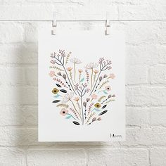 """Flowing with vibrant colors and flowers, our Bloom Wall Art will surely brighten any bedroom or playroom.  It's printed on semi-matte heavy stock paper and makes the perfect addition to a blossoming art collection. Nod exclusiveA Little Low designOnly offered unframedPrints measure 11"""" x 14""""hShow 'em what you're made ofSemi-matte heavy stock paperExtras, extrasFits perfectly with our Nod Institute of Art Frames."""
