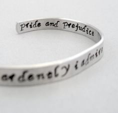 Jane Austen Bracelet  How Ardently I Admire and Love por emerydrive