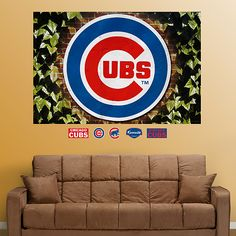 Chicago Cubs Ivy Logo Mural for Matt's man cave, lol