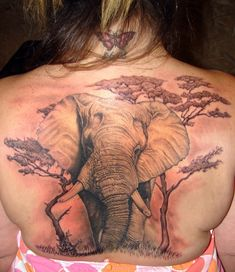 Back elephant tattoo There are always human attributes we can find from different animals. That might be one of reasons why people love to ink animal tattoos on their bodies. …