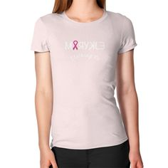 Women's Pink Ribbon Slim FitT-Shirt
