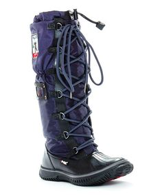 Take a look at this Black & Navy Grip Boot by Pajar on #zulily today!