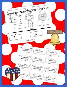 2 Super Teachers- freebie!   George Washington Timeline