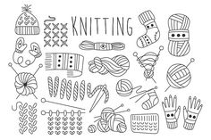 Knitting Vector Hand drawn @creativework247
