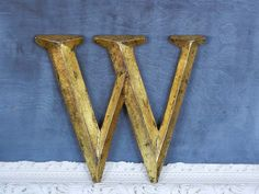 Vintage letter W for wonder-filled .... A good way to be