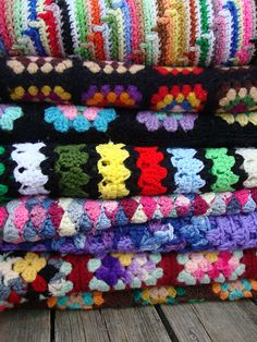 Afghans galore. only if i could ever finish one