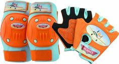 Kids' Cycling Protective Gear - Bell Planes Pad and Glove Set -- Want additional info? Click on the image.