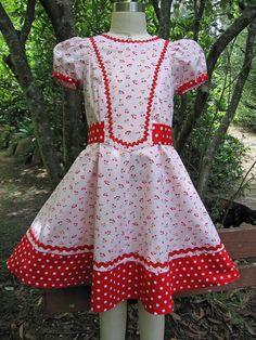 Cherry Pie Vintage Girl's Dress Pattern by by FelicityPatterns, $7.95