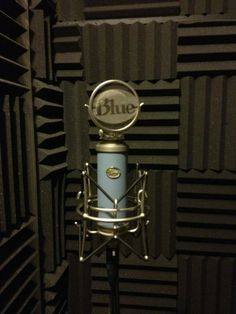 - Recording booth microphone in home studio. #music #microphone #studio #mics #vocals #voice #bluemic #audio http://www.pinterest.com/TheHitman14/headphones-microphones-%2B/