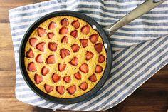 Strawberry Maple Cornbread Cake | a Couple Cooks