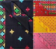 ✿ Traditional Phulkari Embroidered Chanderi Silk Cotton sarees ✿