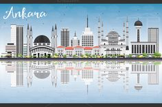 #Ankara #Skyline with Gray Buildings by Igor Sorokin on @creativemarket