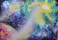 Как нарисовать космос акварелью поэтапно. Видео уроки рисования для дете...