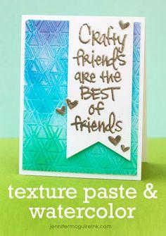 Video: Watercolor + Texture Paste… STAMPtember Giveaway! | Jennifer McGuire Ink