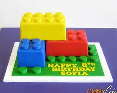 Giant Lego Blocks Cake