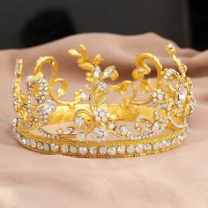Gold Wedding Jewelry Baroque Tiaras Crowns Hair Accessories Ab Crystals Princess Headdress Empire Circle Hair Pieces 91002 Wedding Hair Accessories Online Shop Blue Bridal Hair Accessories From Michellayao123, $20.95| Dhgate.Com