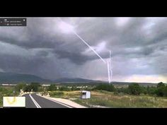 Mystery beam appeared in various parts of the world (?). - YouTube