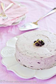 Lemon Cake with Blueberry Buttercream