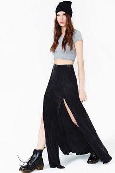 Dark Dusk Maxi Skirt in What's New at Nasty Gal ($48.00) - Svpply