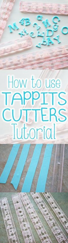 How to use TAPPIT CUTTERS tutorial, step by step guide for cakes and cupcakes decorating working with fondant, Easiest, Fastest way to get fondant out of tappits cutters. www.thecakinggirl.ca