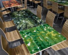 Formica® Envision™ table prints  #Formica #Envision #Design #custom #laminate