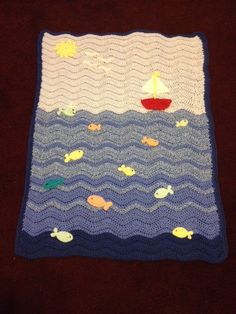 Hey, I found this really awesome Etsy listing at https://www.etsy.com/listing/184179242/crochet-sailboat-blanket