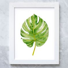 Palm Leaf Print Tropical Leaf Watercolor by IllustrationsThings