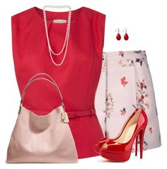 """""""Floral Shorts and Heels"""" by daiscat ❤ liked on Polyvore"""