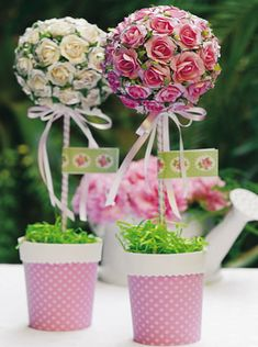 Topiario con flores - Goma Eva