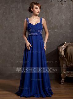 Mother of the Bride Dresses - $129.99 - Empire V-neck Floor-Length Chiffon Mother of the Bride Dress With Ruffle Beading (008014860) http://jjshouse.com/Empire-V-Neck-Floor-Length-Chiffon-Mother-Of-The-Bride-Dress-With-Ruffle-Beading-008014860-g14860