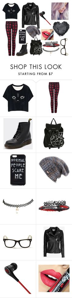 """Emo/scene"" by jaclaypool on Polyvore featuring Dex, Dr. Martens, Spacecraft, Wet Seal, Ray-Ban, IRO, Beats by Dr. Dre, Fiebiger, women's clothing and women's fashion"