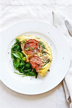 Caprese Omelet With Sauteed Spinach   Modern Granola