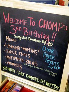 Chomp Wednesday night monthly at Plants & Animals Denver