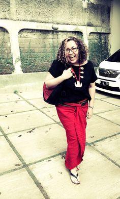 with SAMALONA Hobo Bag & CIREBON Wedges by PRibuMI...®
