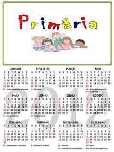 As Tontas Vão Ao Céu: Calendário 2012 - Primária