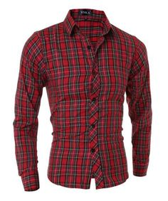 Men Shirt 2017 Fashion Brand Men S Plaid Shirt Male Long-Sleeved Shirt Camisa  Masculina Casual Slim Male Shirts M-XXL CNKS 2d4599a9316