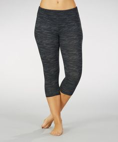 Nine Iron Space-Dye Capri Leggings - Plus #zulily #zulilyfinds