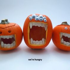 GLOW IN THE DARK PUMPKIN TEETH CHARACTERS.