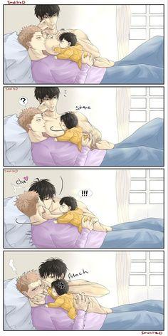 Mpreg Anime, Fanarts Anime, Anime Films, Haikyuu Anime, Anime Chibi, Manga Anime, Anime Dad, Anime Couples Manga, Cute Anime Couples