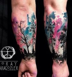 70 Watercolor Tree Tattoo Designs for Men - Manly Nature Ink Ideas- 70 Aquarell Baum Tattoo Designs für Männer – Manly Nature Ink Ideen 70 Watercolor Tree Tattoo Designs for Men – Manly … - Trendy Tattoos, Unique Tattoos, Beautiful Tattoos, Tattoos For Women, Tattoos For Guys, Tattoo Guys, Tattoo Wolf, Colorful Tattoos, Deer Tattoo