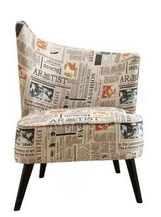 ARMEN LIVING Elegant Accent Chair with Flaired Back Left Side Newspaper Fabric >>> You can get more details by clicking on the image. (This is an affiliate link and I receive a commission for the sales)