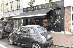 Het kippenrestaurant Poule & Poulette, aan de voetgangerstunnel in hartje Antwerpen.-Laenen