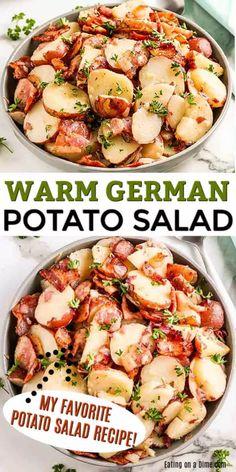 Warm Potato Salads, Easy Potato Salad, Potato Salad Mustard, German Mustard Recipe, Side Dishes Easy, Side Dish Recipes, Traditional Potato Salad Recipe, Bbq Salads, German Potatoes